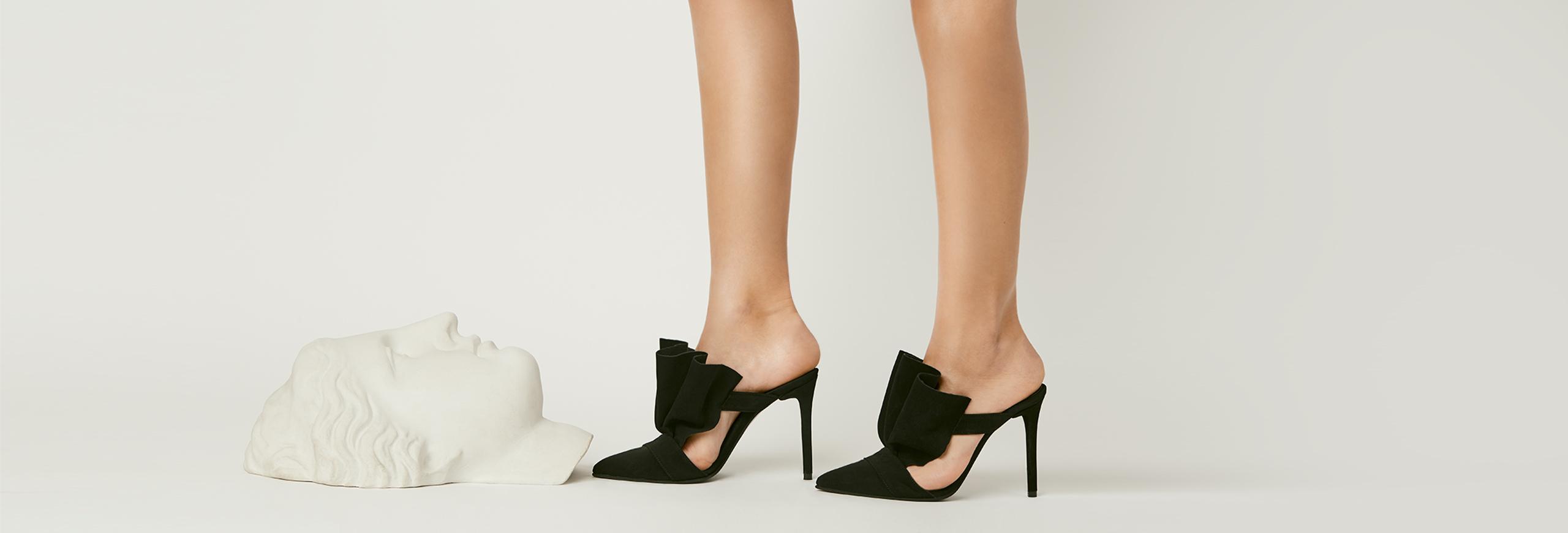 pantofi negri cu toc made to measure